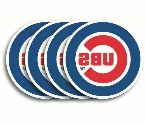 chicago cubs coaster set 4 pack new