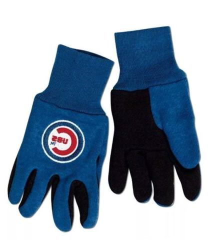 chicago cubs colored palm utility gloves kids