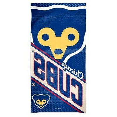 chicago cubs cooperstown collection spectra beach towel