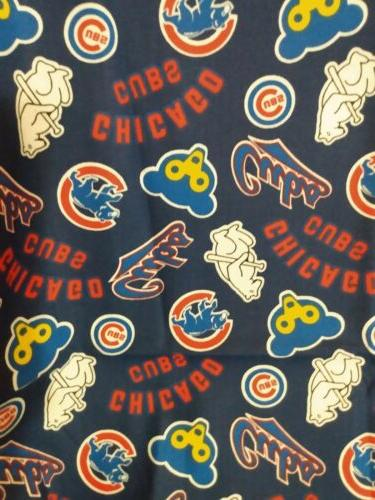 chicago cubs cotton fabric 1 4 yard
