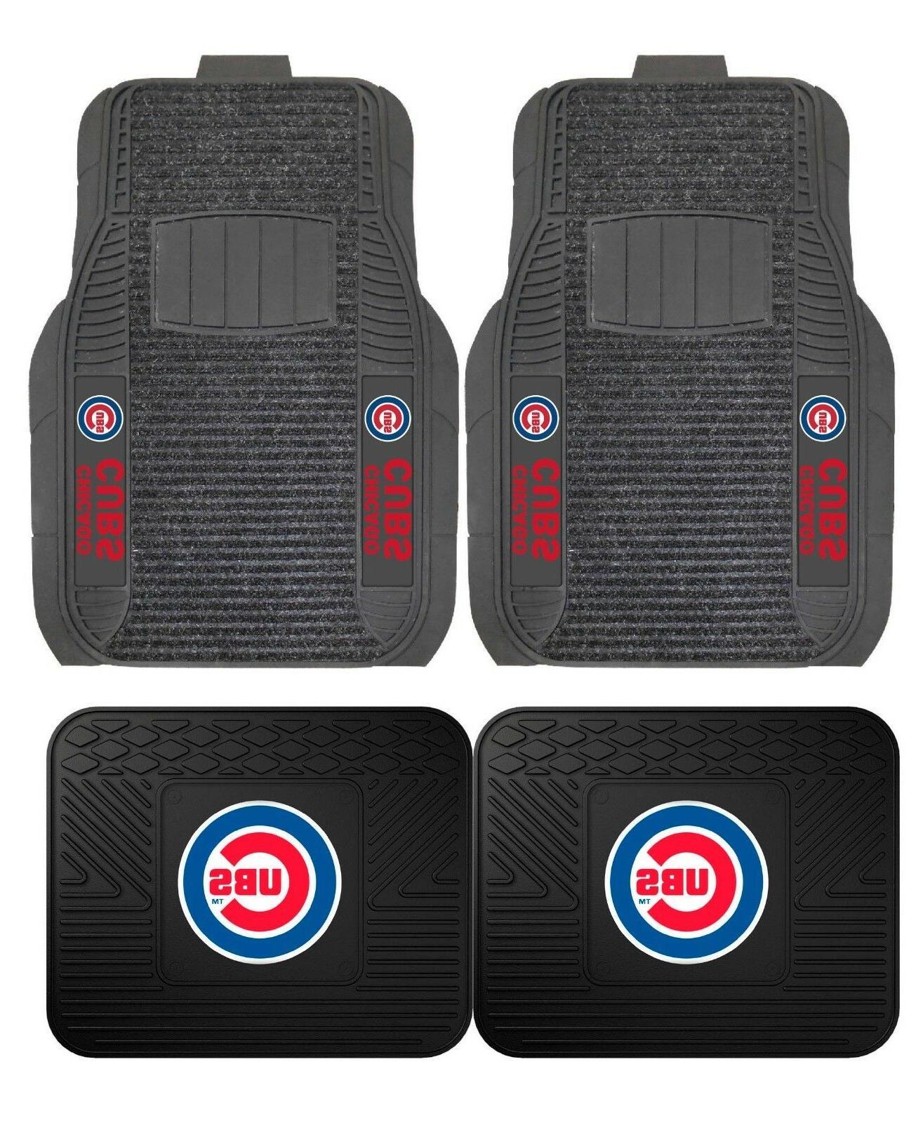 chicago cubs deluxe auto floor mats car