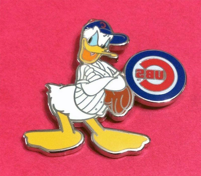 chicago cubs disney donald duck player pin