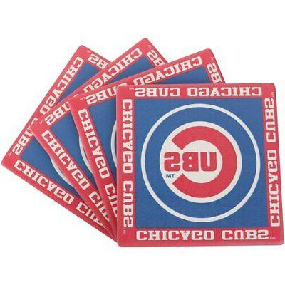 chicago cubs four pack team uniform coaster