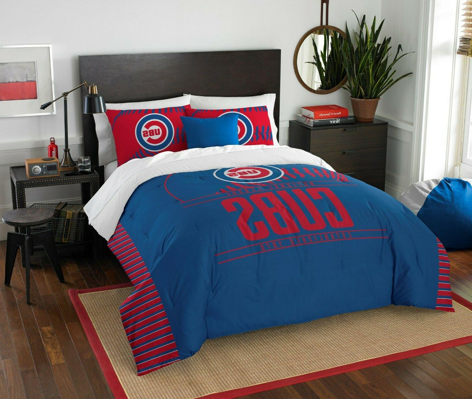 chicago cubs full queen bedding grandslam official