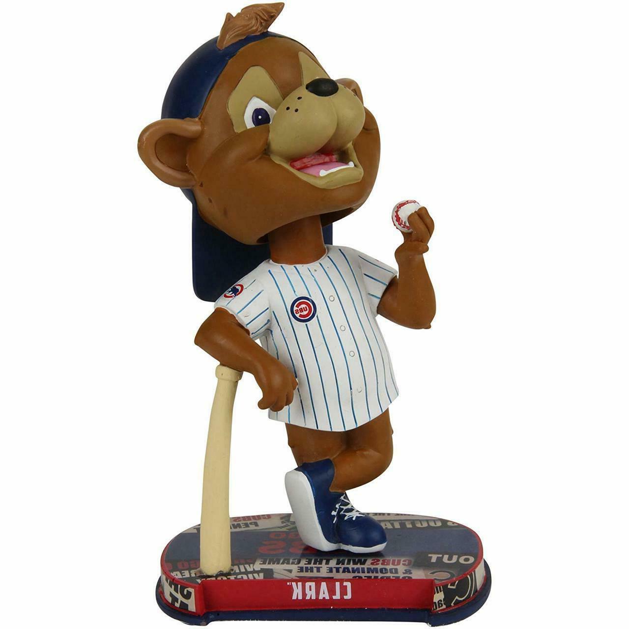 chicago cubs mascot clark headline bobblehead brand