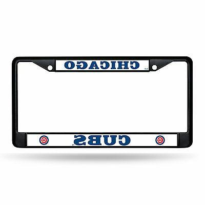 Chicago Cubs Metal BLACK License Plate Frame Auto Truck Car