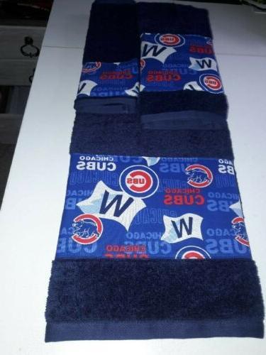 chicago cubs mlb 3 piece bath towel