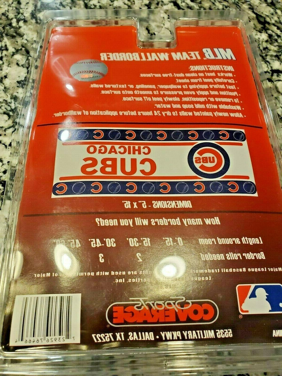 CHICAGO MLB WALLPAPER BORDER. NWT 5''X15'