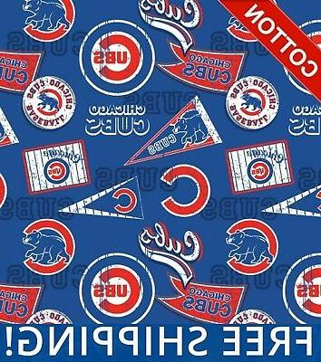 chicago cubs mlb cotton fabric 58 wide