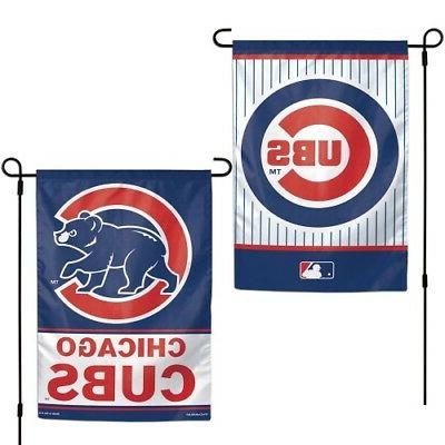"""Chicago Cubs MLB Garden Flag Double Sided Licensed 12"""" x 18"""""""