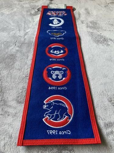 Chicago Banner History Logos Man Cave Winning