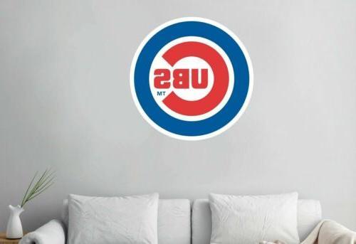Chicago Cubs Logo Baseball Custom Vinyl Decals Wallpaper