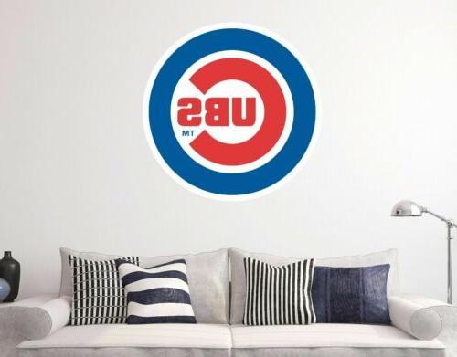 chicago cubs mlb logo baseball custom vinyl