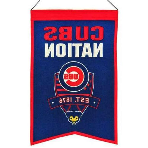 chicago cubs nations banner pennant 14 x