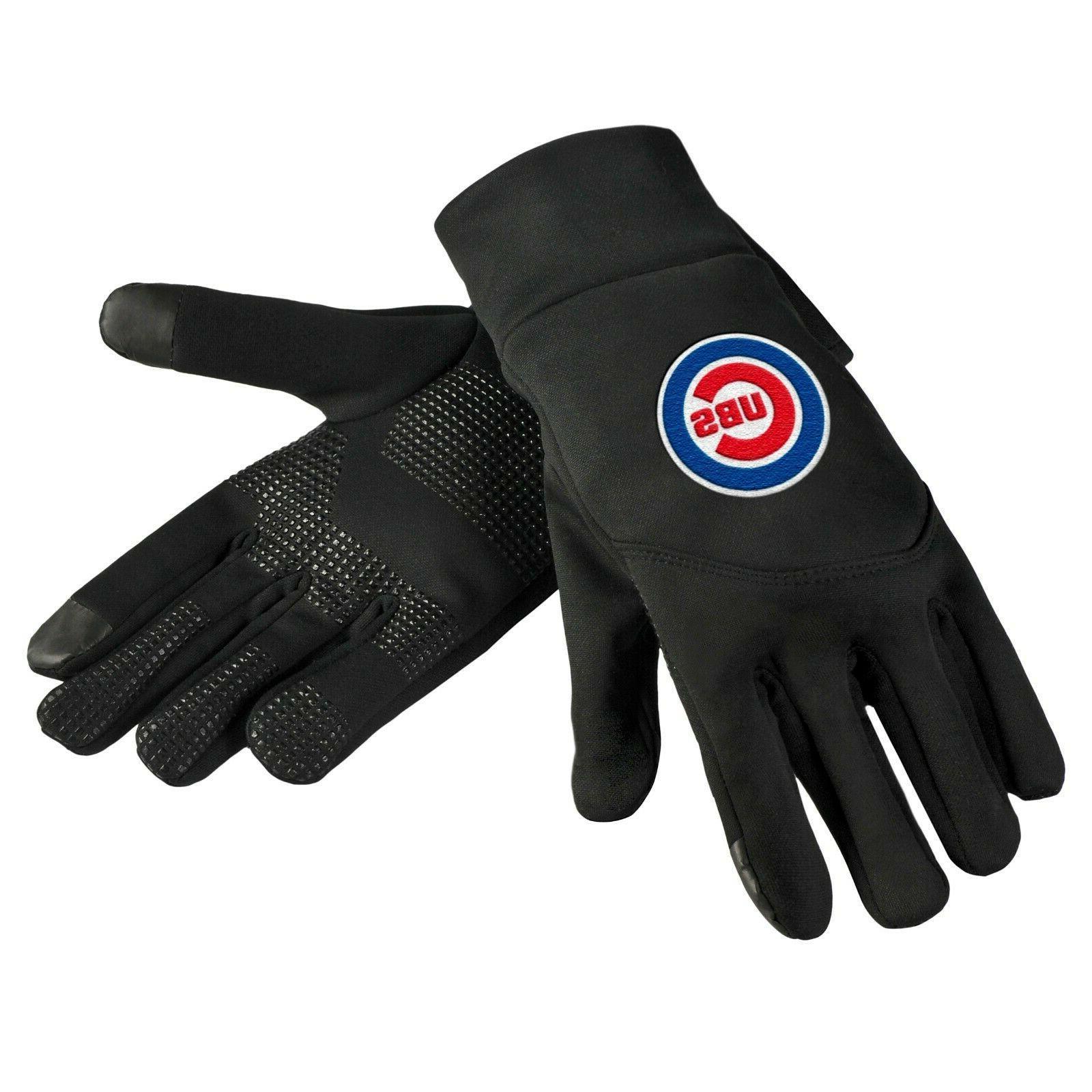 chicago cubs neoprene gloves sports logo winter