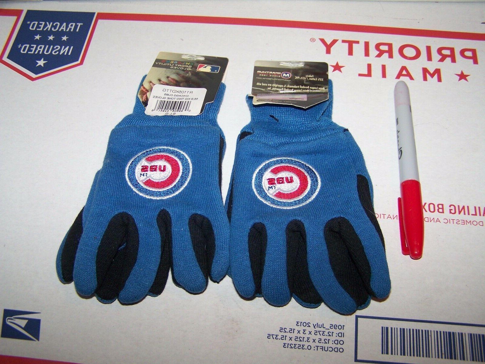 chicago cubs pair of gloves children