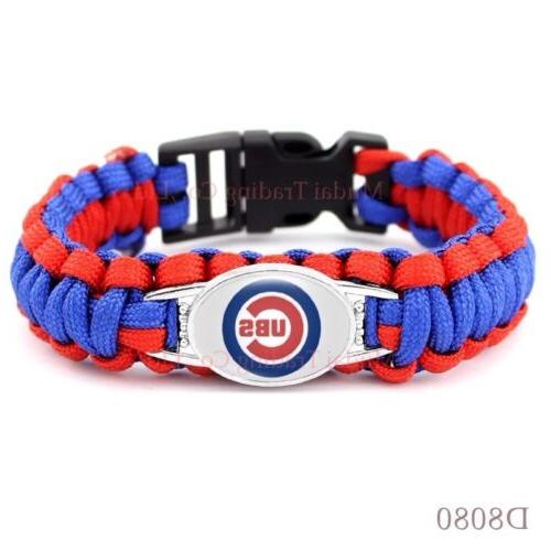 Chicago Cubs Paracord Bracelet Baseball Quality Fast Ship US