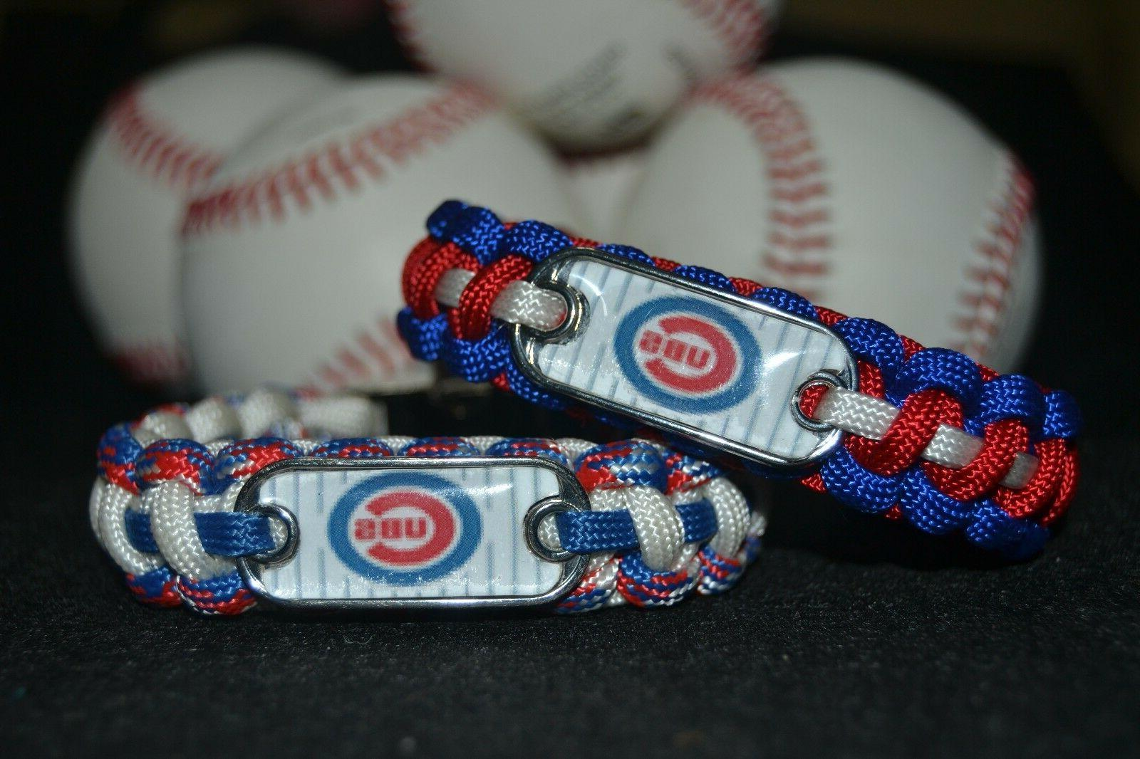 chicago cubs paracord bracelet w mlb dog