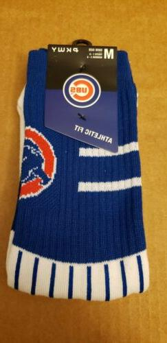 Chicago Cubs PKWY Athletic Fit Crew Socks Size M Medium