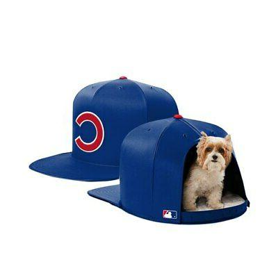 chicago cubs small pet bed royal