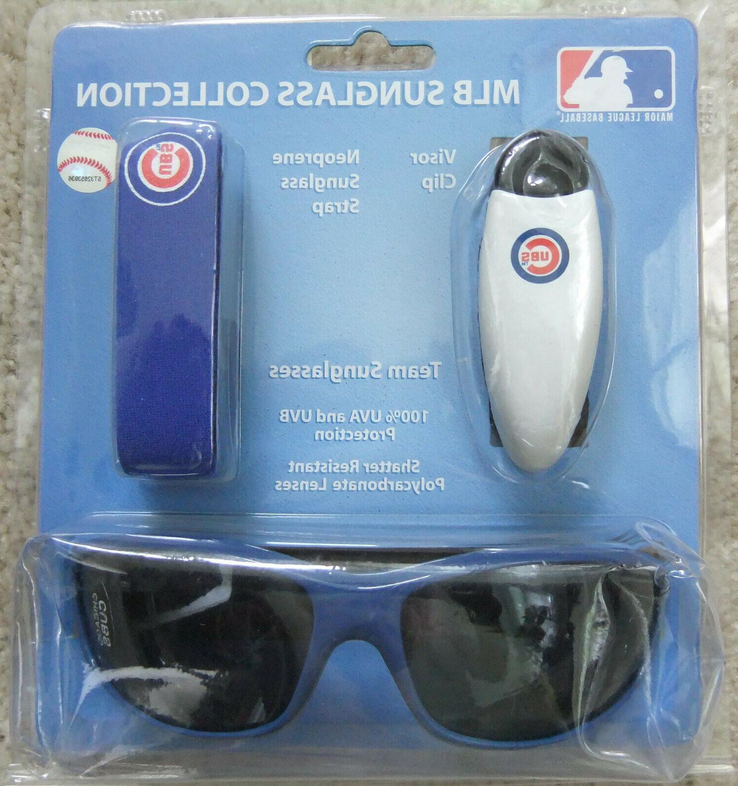 chicago cubs team sunglasses visor clip neoprene