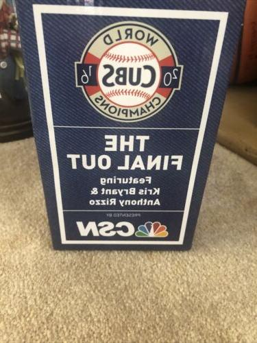 Chicago Cubs The Out Featuring Kris & Rizzo Bobblehead