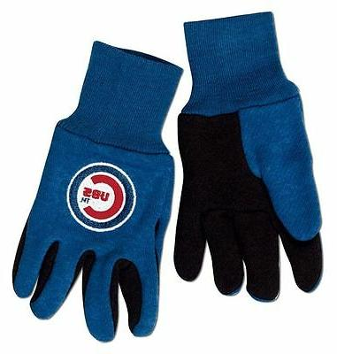 chicago cubs two tone youth size gloves