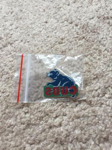 chicago cubs vintage blue bear pin nip