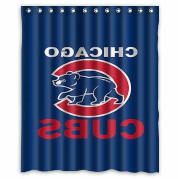 great shower curtain chicago cubs size 58