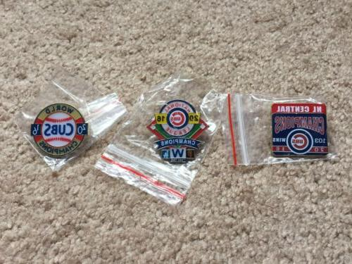 lot of 3 2016 chicago cubs pins