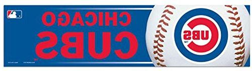MLB Chicago Cubs Bumper Sticker, One Size