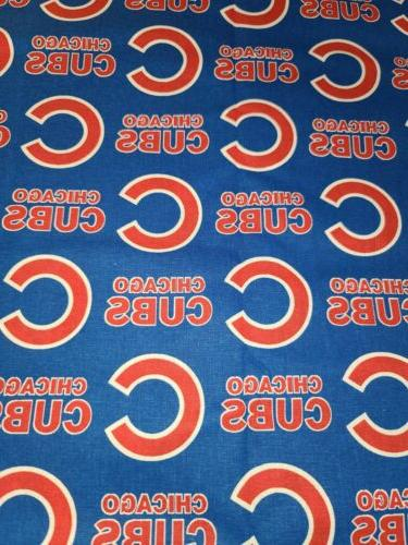 mlb chicago cubs cotton fabric 1 2