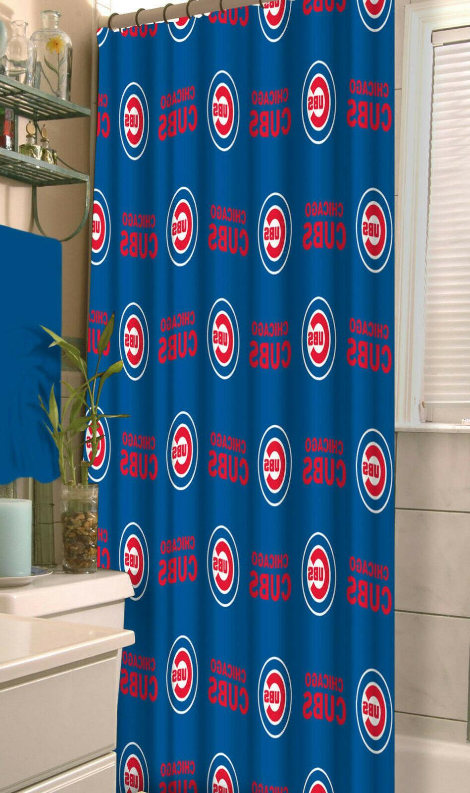 mlb chicago cubs fabric shower curtain 72