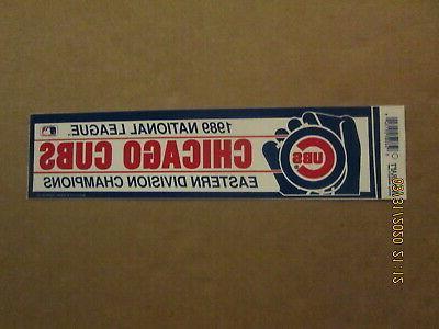 mlb chicago cubs vintage 1989 eastern division