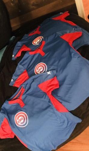 Majestic MLB Cool Base Numbered Cubs Warmup Jerseys 2 LG