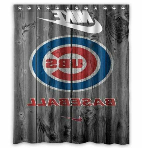 new chicago cubs baseball shower curtain 60