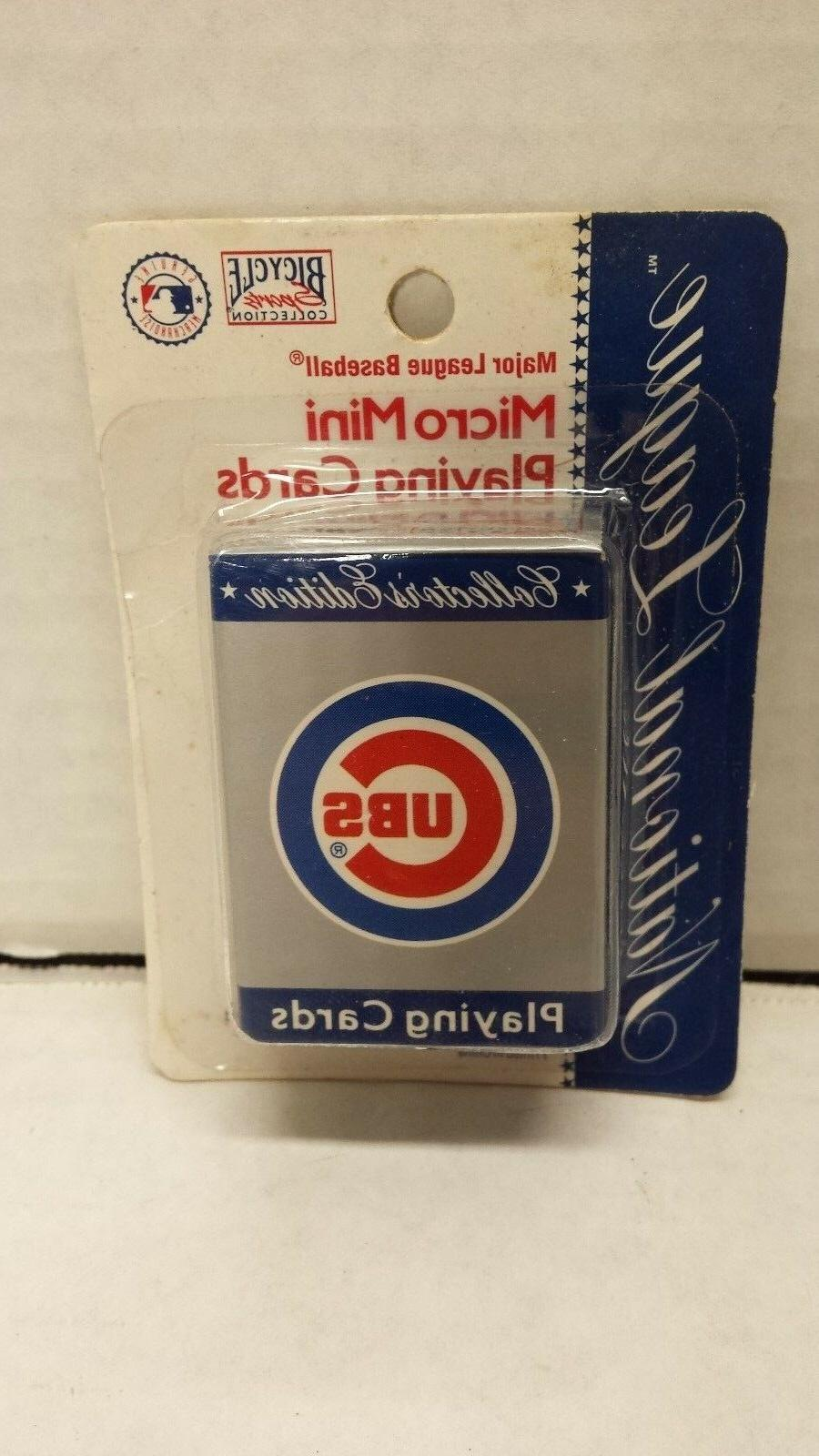 sports collection micro mini chicago cubs playing