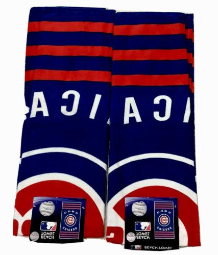 two chicago cubs beach towels bundled one