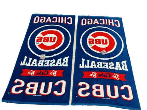 two vibrant chicago cubs beach towels nwt