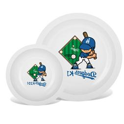 Los Angeles Dodgers MLB Child's Plate & Bowl Set BPA Free