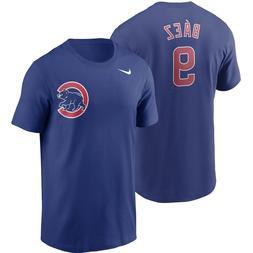 Men's Chicago Cubs Javier Baez Nike Royal Name & Number T-Sh