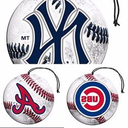 MLB Auto Air Freshener- Each Pack Includes set of 3-Pick You