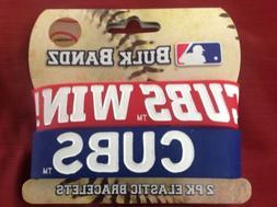 MLB Baseball CHICAGO CUBS WIN Baller Bands BANDZ  Rubber Bra