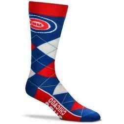 MLB Chicago Cubs Argyle Unisex Crew Cut Socks - One Size Fit