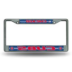 MLB Chicago Cubs Bling License Plate Frame, Chrome, 12 x 6-I