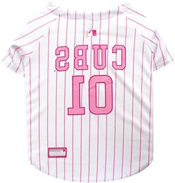 Pets First MLB Chicago Cubs Dog Jersey, Large, Pink