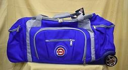 2 MLB Chicago Cubs G-III Sports 30'' Wheeled Duffle Bag Lugg