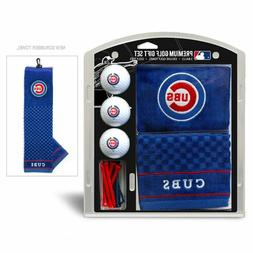 MLB Chicago Cubs Golf Balls, Tees & Embroidered Towel Gift S