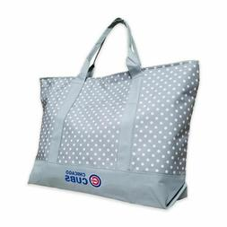 MLB Chicago Cubs Large Tote Bag Team Logo Polka Dot