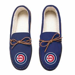 MLB Chicago Cubs Mens Moccasin Slippers Choose Size
